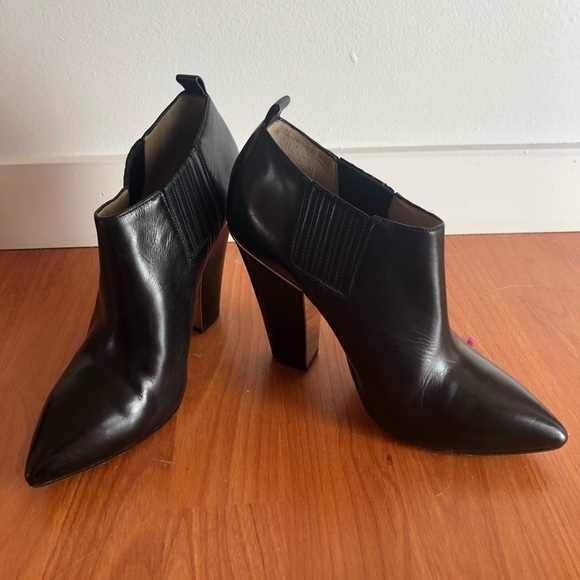 Michael Kors Leather Slip-On Ankle Booties